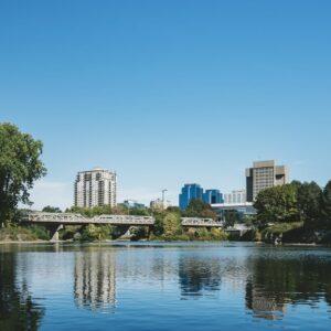 London Ontario buildings across water