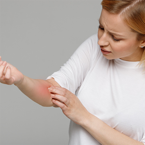 woman discovering staph infection